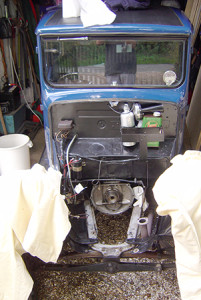 Andy Bennett Austin Seven engine out
