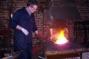 Andy Bennett blacksmithing demonstration