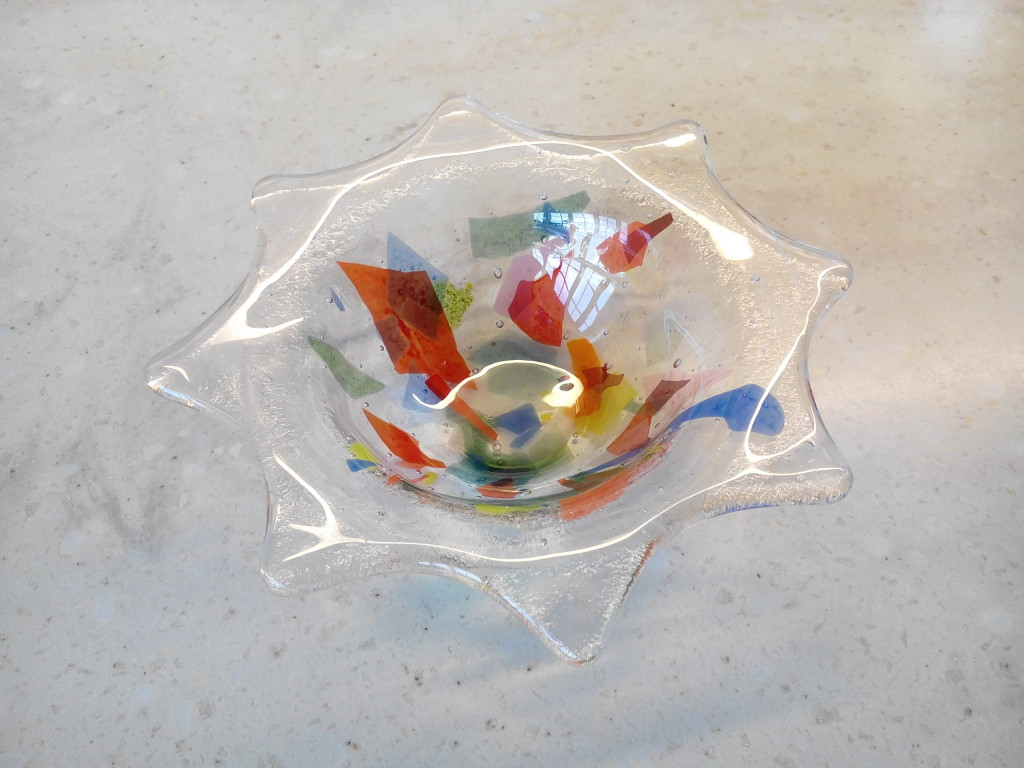 fused glass tea light