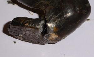 bronze sculpture repair damage